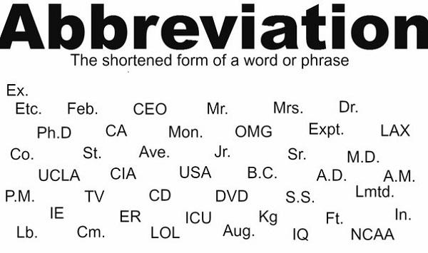 Английские сокращения и аббревиатуры